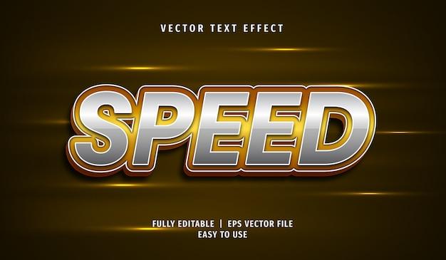 Effet de texte de vitesse 3d, style de texte modifiable