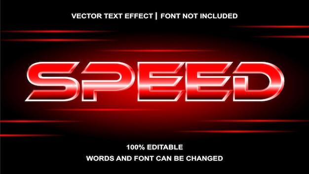 Effet de texte vitesse créative