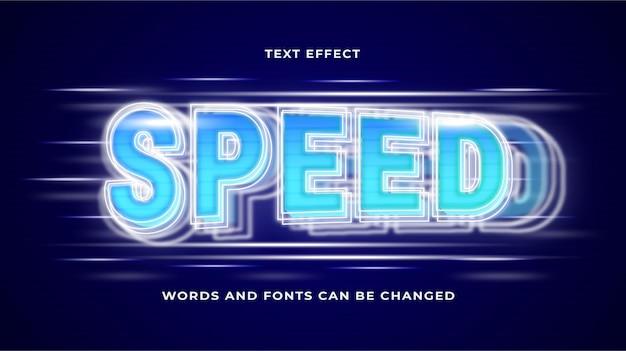 Effet de texte de vitesse modifiable eps cc