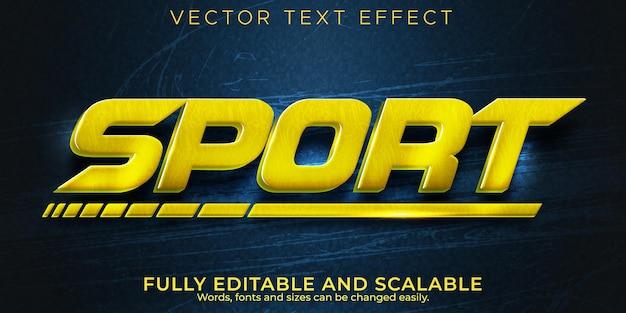 Effet de texte de vitesse sportive, coureur modifiable et style de texte rapide