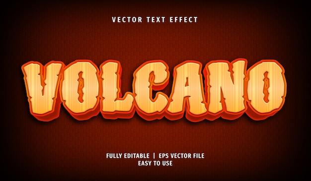 Effet de texte de volcan 3d, style de texte modifiable