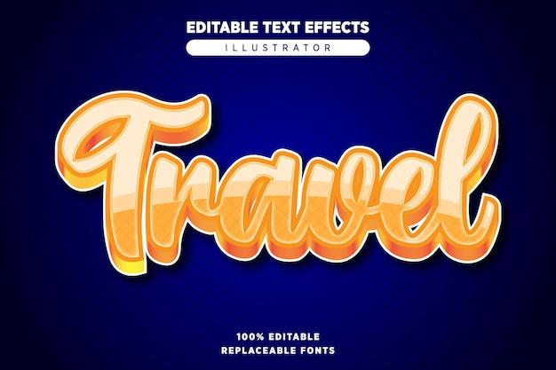 Effet de texte de voyage modifiable