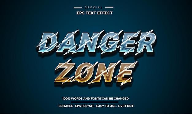 Effet de texte de zone de danger modifiable