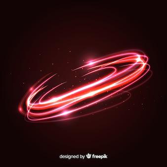 Effet tourbillon de lumière rouge