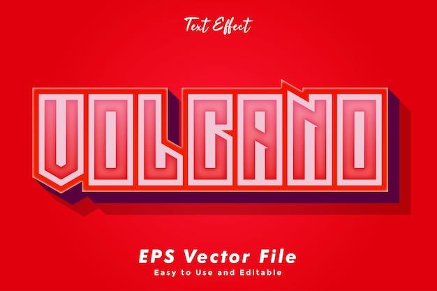 Effet de typographie d'effet de texte volcan