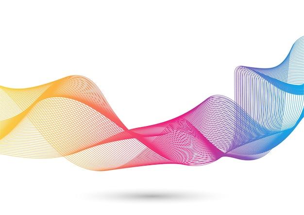 Effet de vague coloré abstrait sur la couleur blanche