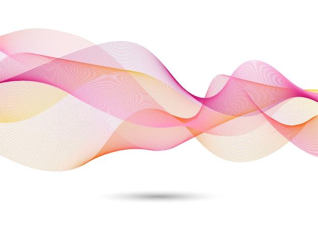 Effet de vague de fond abstrait coloré sur blanc