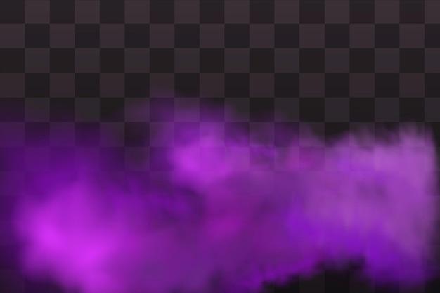Effet violet de gaz toxique, de poussière et de fumée.