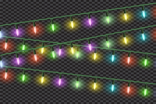 Effets de lumières de noël, guirlandes