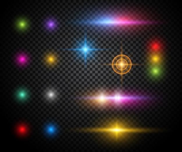 Effets lumineux colorés