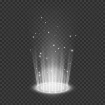 Effets lumineux de téléportation