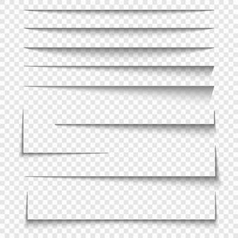 Effets d'ombre sur les feuilles de papier
