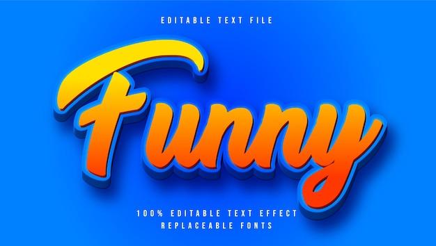 Effets de texte amusants 3d modernes modifiables pour illustrator