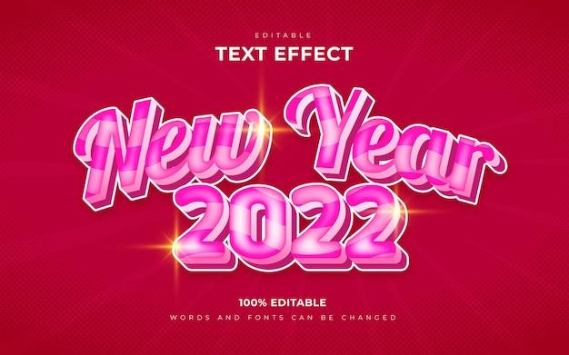 Effets de texte de bonne année 2022