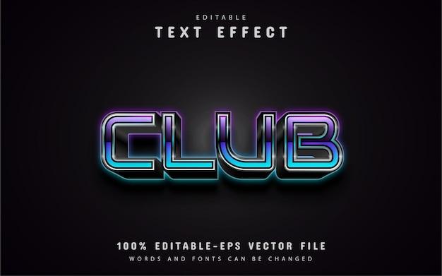 Effets de texte dégradé de club