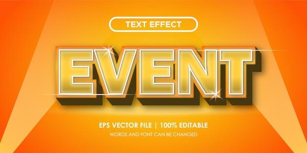 Effets de texte fantaisie et élégants modifiables
