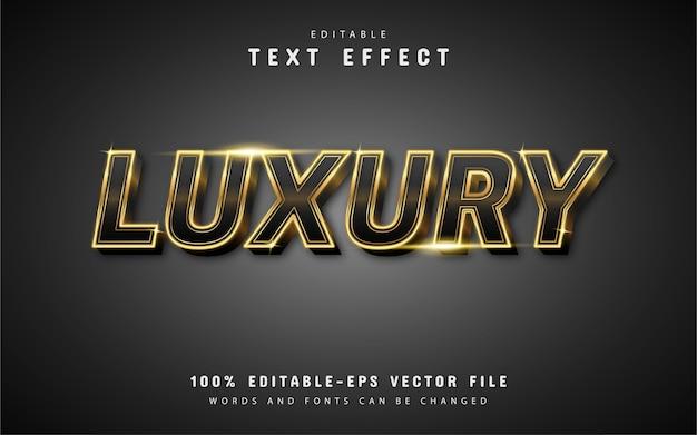 Effets de texte de luxe modifiables