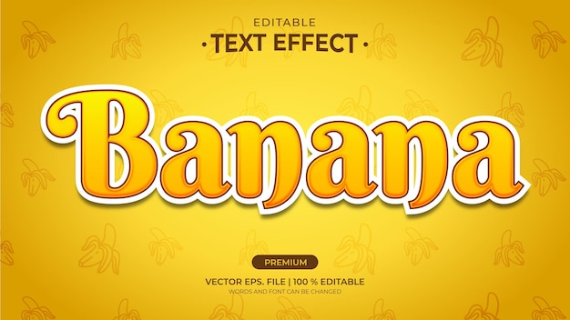 Effets de texte modifiables de banane