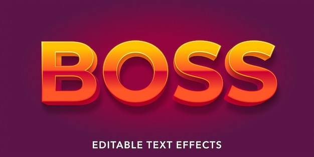 Effets de texte modifiables de boss