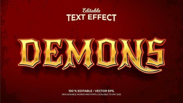 Effets de texte modifiables démons