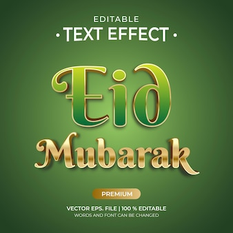 Effets de texte modifiables eid mubarak