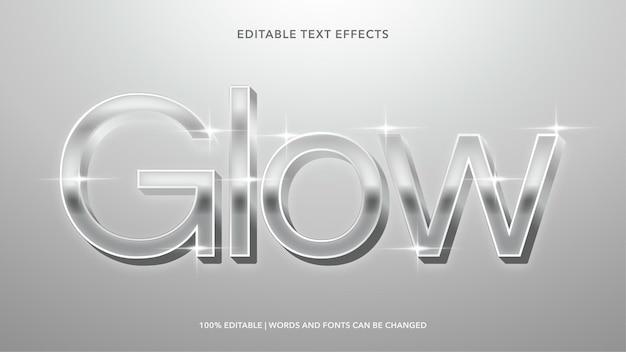 Effets de texte modifiables glow