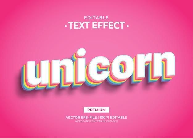 Effets de texte modifiables licorne