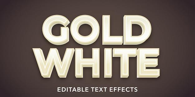 Effets de texte modifiables or blanc