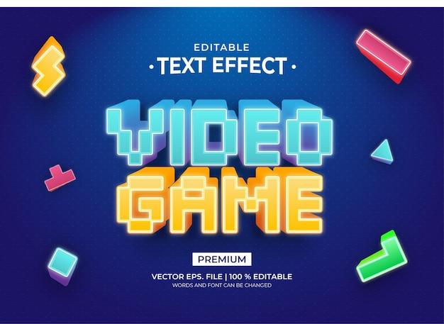 Effets de texte modifiables de style 3d de jeu vidéo
