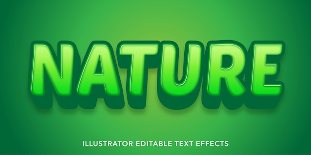 Effets de texte modifiables de style nature verte