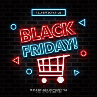 Effets de texte noir vendredi neon
