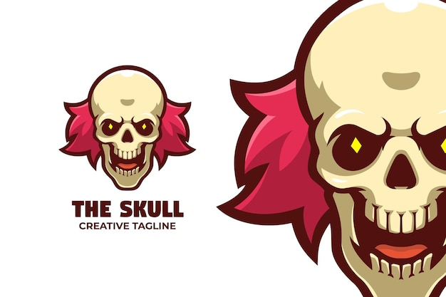 Effrayant clown halloween mascotte logo caractère