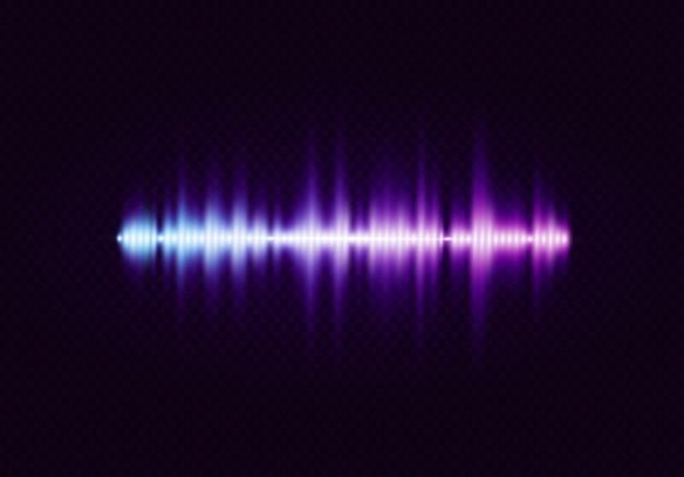 Égaliseur abstrait numérique, onde sonore.
