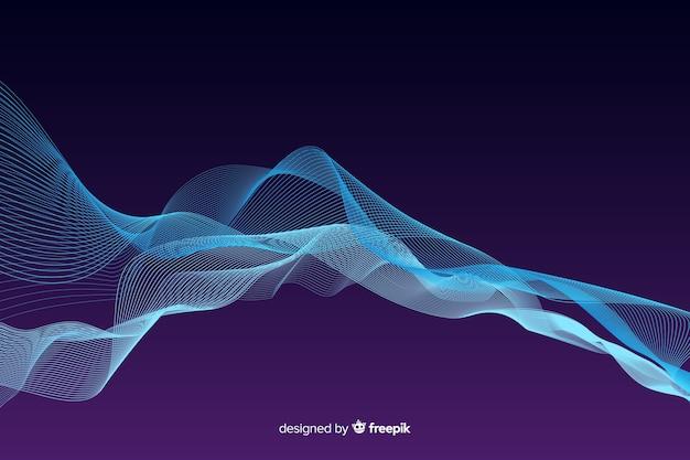 Égaliseur abstrait particules vagues