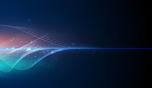 Égaliseur numérique abstrait bleu