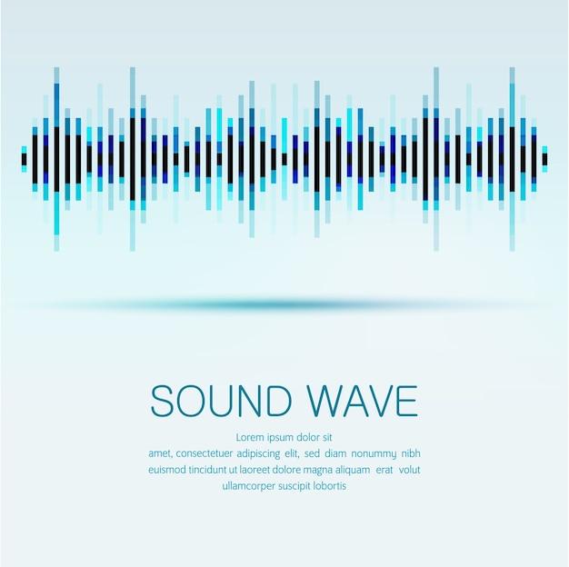 Égaliseur numérique abstraite, arrière-plan de l'élément de conception créative onde sonore modèle.