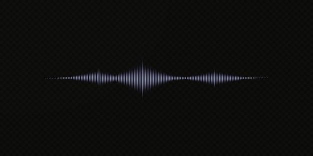 Égaliseur numérique bleu abstrait d'élément de modèle d'onde sonore