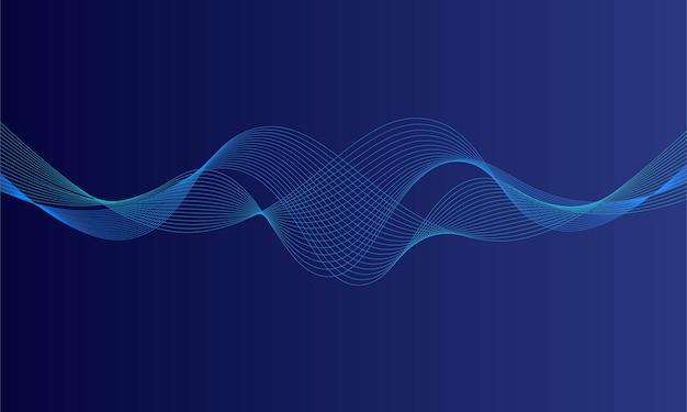 Égaliseur numérique bleu abstrait, vecteur d'onde sonore
