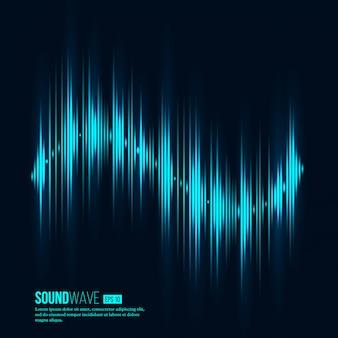 Égaliseur numérique. onde sonore. illustration vectorielle