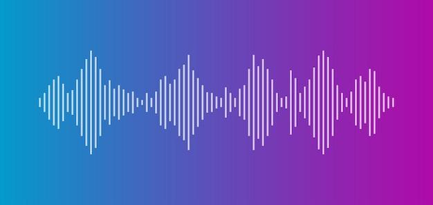 Égaliseur d'onde sonore isolé sur fond sombre voix et musique audio