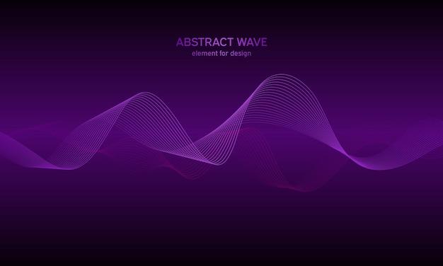 Égaliseur de piste d'élément de vague de fond abstrait