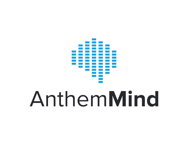 Égaliseur soundwave beat avec cerveau conception de logo moderne géométrique simple et élégant