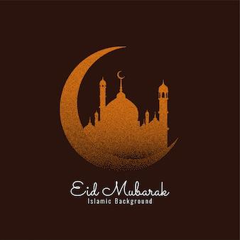 Eid mubarak fond islamique avec croissant de lune