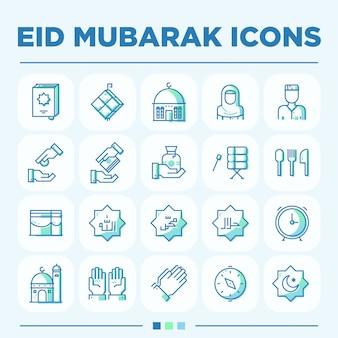 Eid mubarak icon sets