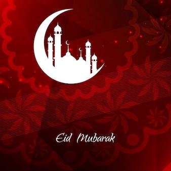 Eid mubarak religieux conception de fond