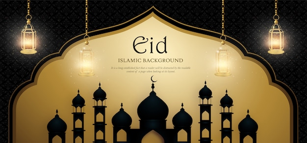 Eid mubarak royal luxury banner