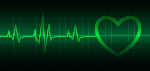 Ekg heart wave