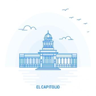 El capitolio point de repère bleu