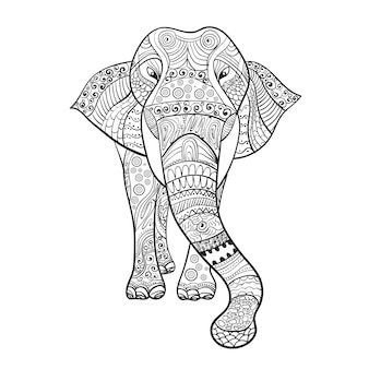 Elaphant zentangle