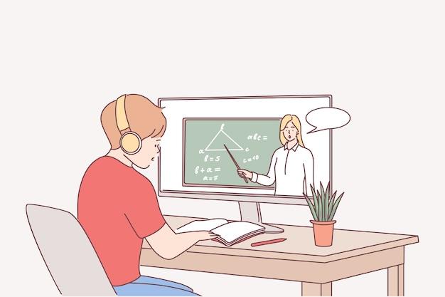 Elearning, éducation en ligne, concept d'étude à distance.